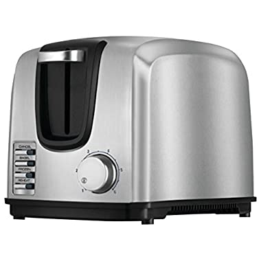 Black & Decker T2707S 2-Slice Stainless-Steel Toaster, Silver