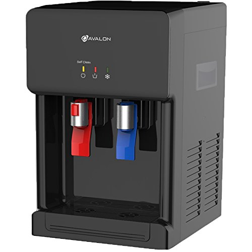 Cold Countertop Water Dispenser (Avalon Countertop Self Cleaning Bottleless Water Cooler Water Dispenser - Hot & Cold Water, NSF Certified Filter- UL/Energy Star Approved- Black)