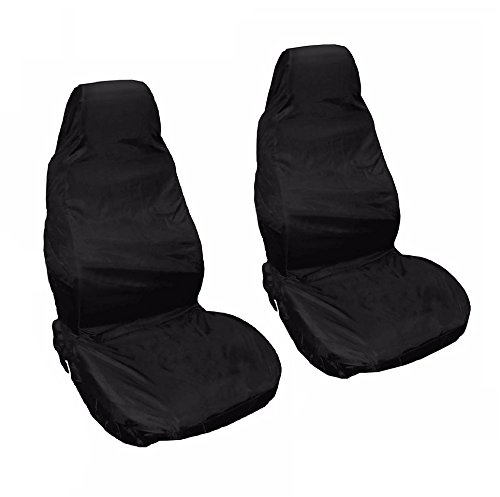 MAZDA MX5 05 on Black Front Waterproof Nylon Car Seat Covers Protectors