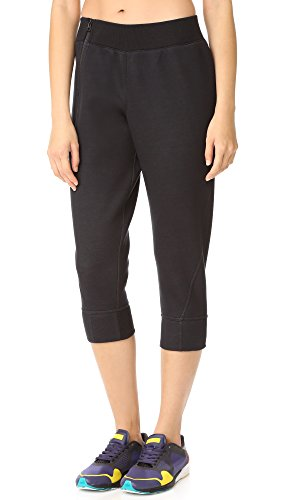adidas by Stella McCartney Women's Essentials 3/4 Sweatpants, Black, Medium
