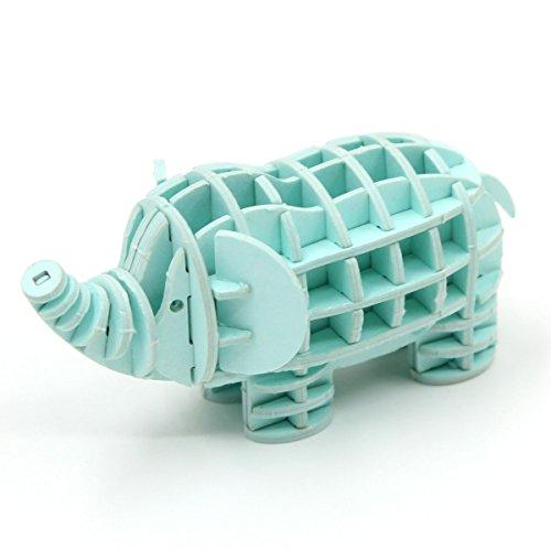 Elephant Miniature (JIGZLE Elephant 3D Paper Puzzle DIY Kit - Laser Cut Miniature Animals)