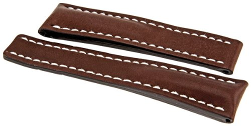 Breitling Brown Calfskin 24-20 MM Leather Strap 444X