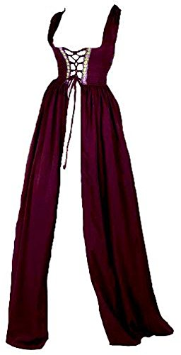 Renaissance Irish Over Dress (L/XL, Burgundy)]()