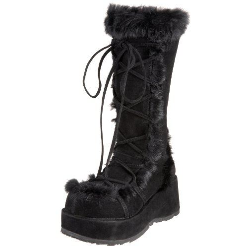 Demonia By Pleaser Women's Cubby-311 Boot,Black Veg Suede,9 M US -