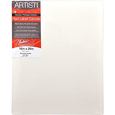 Fredrix 16 by 20-Inch Stretched Canvas