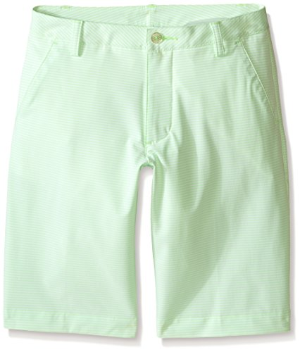 PUMA Golf Boys' Stripe It Shorts (Big Kids), Green Gecko, Large by PUMA