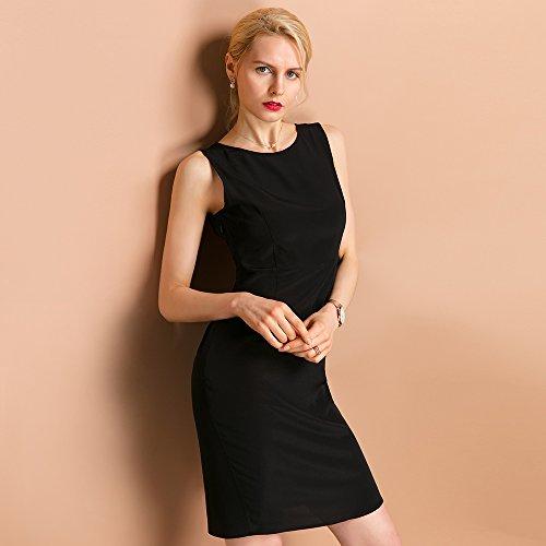 Partykleider Cocktailkleider von Seidenkleider Damen Schwarze 18 aus Seide Knielang LilySilk Schwarz Momme Elegante XOqwUU