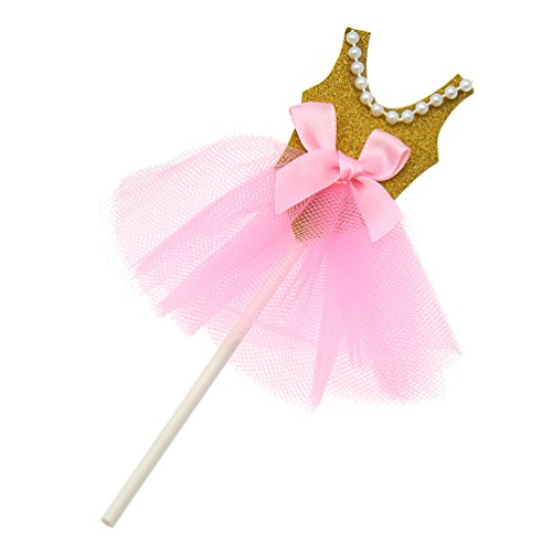Cakes Sweet Baby (Princess Skirt Cake Toppers Ballerina Dress Cupcake Glitter Decoration For Party 5Pcs)