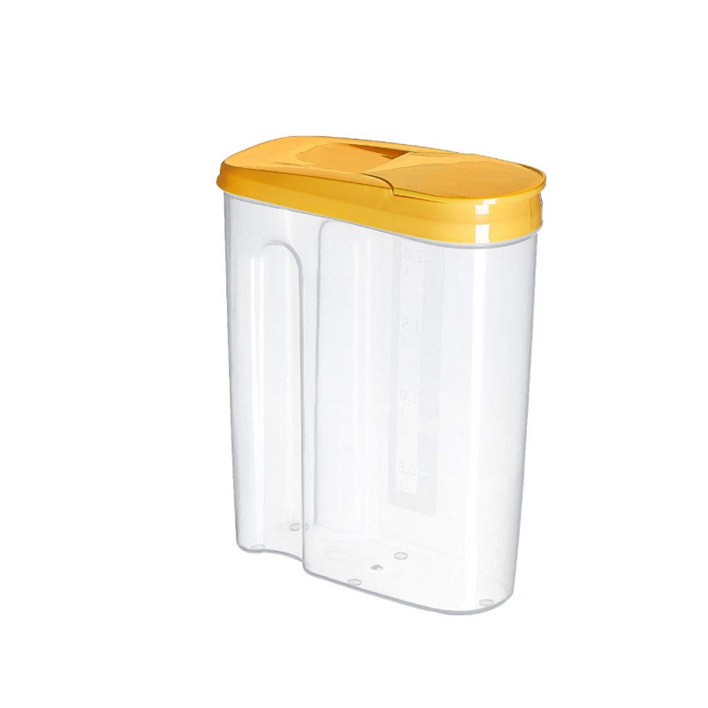 says~DE Vorratsdosen Frischhaltedosen Vorratsbeh/älter Wasserdicht und BPA-Frei gelb, s 3er Set Zucker Dosen Beh/älter zur Aufbewahrung von Mehl Nudeln Luftdicht 2.5//1.8Liter