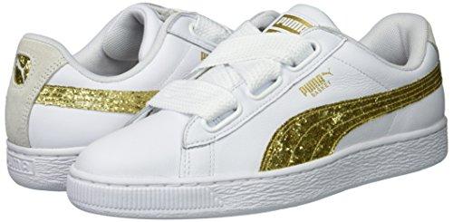 Puma donne cestino di cuore glitter. scarpe scarpe glitter. da ginnastica scegliere sz / colore 6e3303