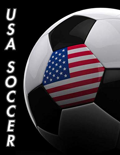 USA Soccer: Composition Book 150 pages 8.5 x 11 in. | College Ruled | Writing Notebook | Lined Paper | Soft Cover | Plain Journal