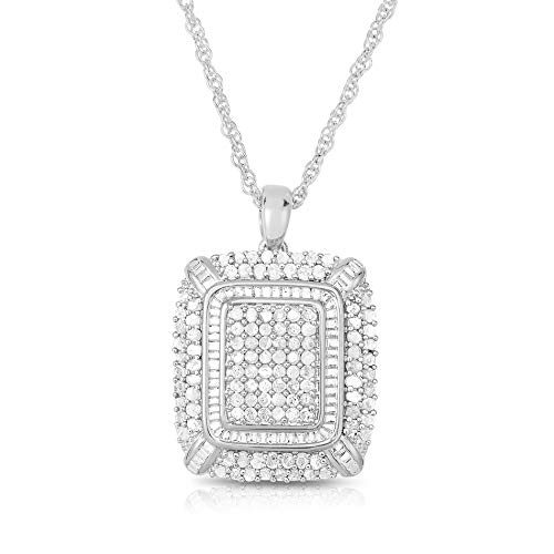 NATALIA DRAKE Blowout Sale 2 CTW Diamond Studded Square Shaped Pendant