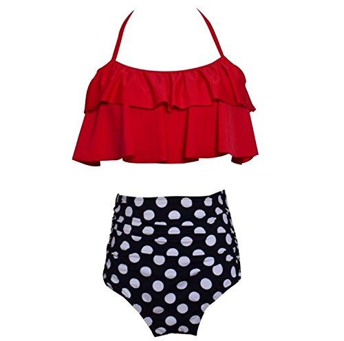 32579a5541 Amazon.com: TOPCHANCES High Waisted Bikini Set Push up Bra Swimsuit:  Clothing