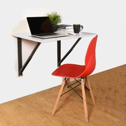 Compal Solid Wood Powder Coated Steel Children Wall-Mounted Drop-Leaf Folding Kitchen and Dining Laptop Table Desk for…
