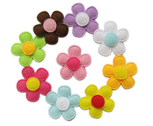 XiXiboutique 90 Padded Spring Felt Flower Appliques 9 Colors