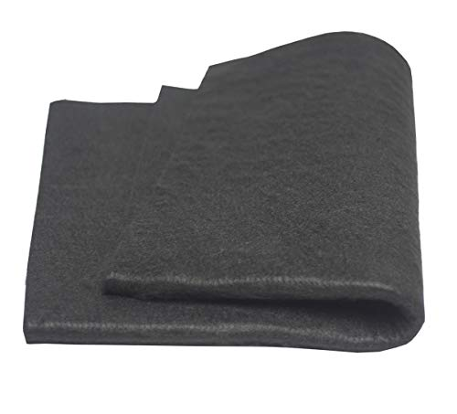 HANSWAY High Temp 18' X 24'(WL) X 1/4''Felt Carbon Fiber Welding Blankets Black (18 x 24 inches)