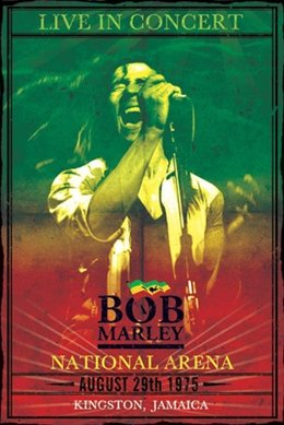 Bob Marley Live 1975 Reggae Music Concert Poster 24 x 36 inches