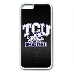 "iPhone 6 Case,TCU Horned Frogs on Black Hard Shell Transparent Edges Case for iPhone 6(4.7"") by ruishername"