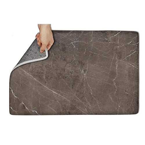 fhmatx Brown Marble Polished Bath mat Non-Slip Rug mat Soft and Washable Doormat Easy to Clean Personalized Cute funnyfront Door Outdoor Indoor Entrance Entry mat for Outdoor or Indoor,31 X 19 inch