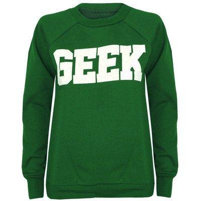 Nueve Geek Dope punto para mujeres mujeres eslogan Geek alto-Sudadera, S, M, L, XL Vert Jade 42: Amazon.es: Ropa y accesorios