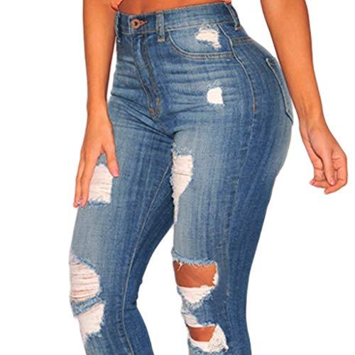 colore Jeans Blu Rxf Dimensioni Blu Da L Donna Vita Alta A Elasticizzati 4qdBqw0