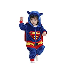 Aokaixin Baby Boys Girls Rompers Toddler All in One Hooded Soft Baby Suit