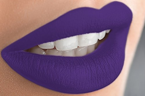 Semi Matte Violet (Matte Liquid Lipstick Long Lasting Lip Gloss by Mynena -)