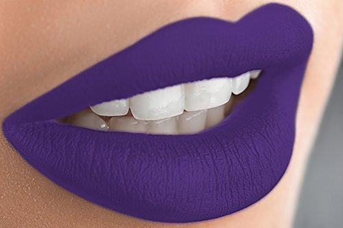 Semi Matte Violet (Matte Liquid Lipstick Long Lasting Lip Gloss by Mynena -)