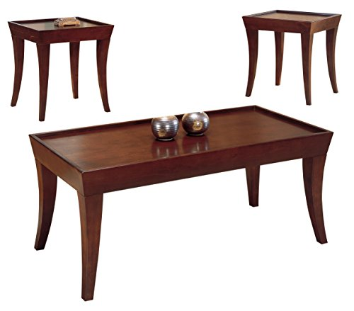 Homelegance Zen Three Piece Occasional Tray Top Coffee Table With Two End  Tables