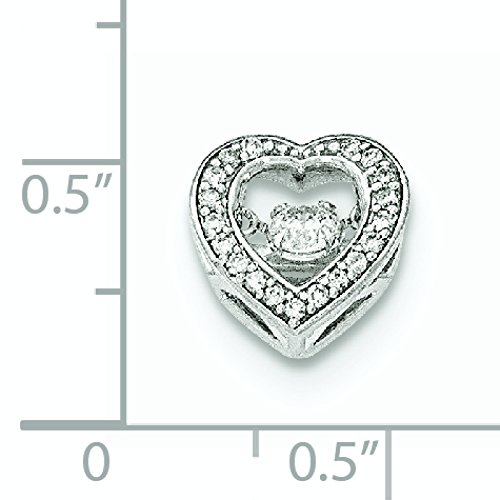Pendentif Coeur Or Blanc 14Carats Avec Diamant