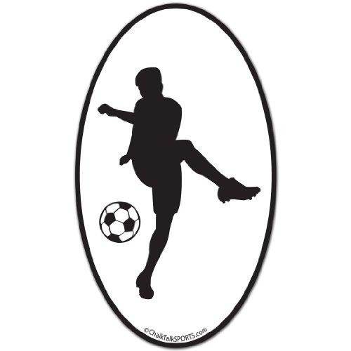 Soccer Car Magnet | Soccer Player (Male) Silhouette ()
