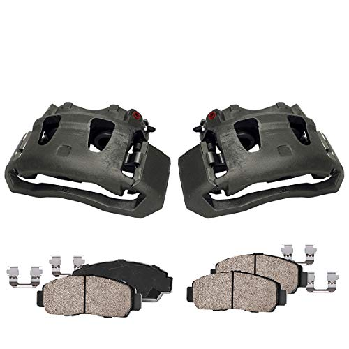 (Callahan CCK04914 [2]FRONT Original Brake Calipers + Ceramic Pads + Hardware [Ford E-150 E-250 E-350 E-450 F-250 F-350 ])