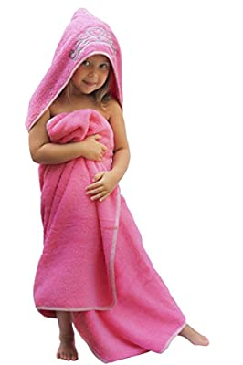 """Princess Hooded Kid/Baby Towel, 27.5"""" x 49"""", Plush and Absorbent Luxury Bath Towel! 600 GSM, 100% Cotton"""