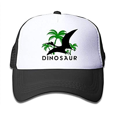 roylery Dinosaurs and Palm Trees Child Baby Kid Mesh Caps Adjustable Trucker Hats Summer Snapback