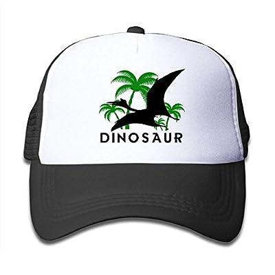 roylery Dinosaurs and Palm Trees Child Baby Kid Mesh Caps Adjustable Trucker Hats Summer Snapback