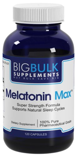 Cycle Support mélatonine Max Sommeil Naturel Big vrac 10mg suplements mélatonine 120 Capsules 1 Bouteille