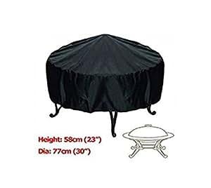 Estados Unidos Premium Store Patio, 76,2cm redonda para hoguera de resistente al agua con protección UV, parrilla para barbacoa, color negro