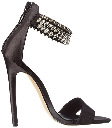 Blk 18 Pleaser Noir Sexy Mujer Satin Zapatos vxHgf1q