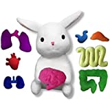 Giblets White Plush Stuffed Bunny with Removable Organs
