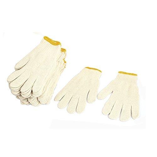 eDealMax 12 paires de Protection ESD antistatique Gants Coton fil de Travail by eDealMax