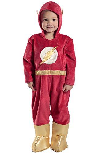 [Princess Paradise Baby the Flash Premium Costume Jumpsuit, Red, 18M/2T] (Flash Different Costumes)