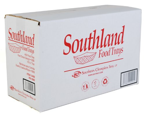 Southern Champion Tray 0409#50 Southland Red Check Paperboard Food Tray/Boat/Bowl, 1/2-lb. Capacity (Case of 1000) by Southern Champion Tray (Image #3)