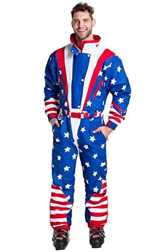 e5fa9de04789 Tipsy Elves Men s American Flag USA Ski Suit - Stars and Stripes Patriotic  Retro Ski Suit