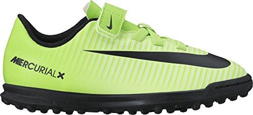 Nike Jr Mercurialx Vortex 3 (V) Tf, Botas de Fútbol para Niños Multicolor (Electric Green/black-flash Lime-white)