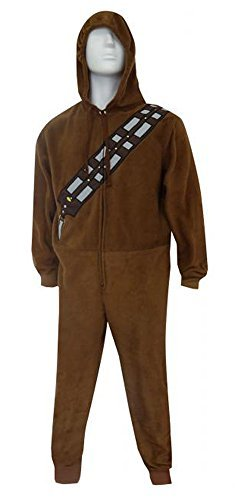 Star Wars Look Like Chewbacca Hooded Fleece Union Suit Pajama for men (Large)]()