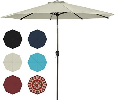 Ginelite 10Ft Patio Umbrella Outdoor Umbrella Patio Table Umbrella Market Umbrella UV Protection Umbrella