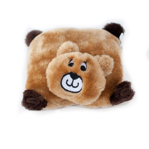 - ZippyPaws Squeakie Pad No Stuffing Plush Dog Toy, Bear