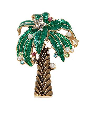 (Kim Rogers Palm Tree Holiday Gold-Tone Pin )