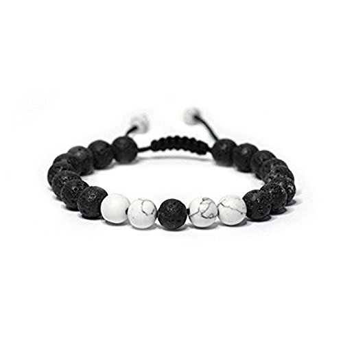 Calm Lava Stone Diffuser Bracelet-stress relief, meditation, diffuse, yoga, aromatherapy, sleep aid,grounding, healing, genuine stones, natural (0-1)