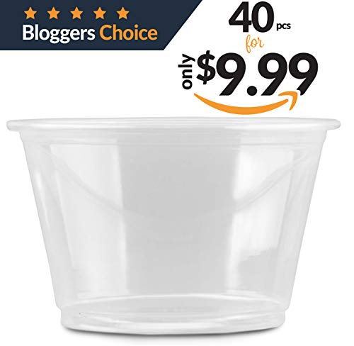 4oz Slime Containers with Lids | 40 Pack of 113g, 4oz Plastic White Leakproof Clear Storage Containers with Lids …